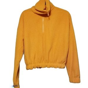 Urban Outfitters Mustard Orange Fuzzy Pull…